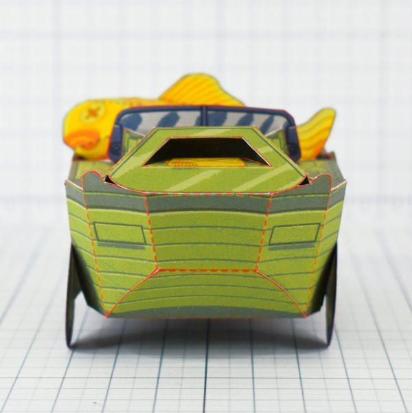 PTI - Aqua Marine Seep Jeep Fold Up Toy Image - Front