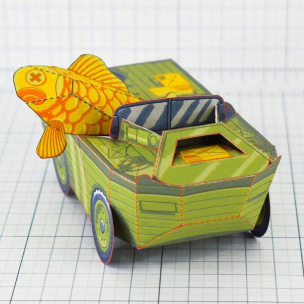 PTI - Aqua Marine Seep Jeep Fold Up Toy Image - Low