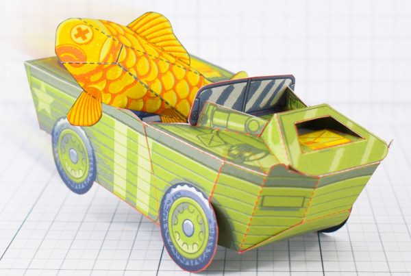PTI - Aqua Marine Seep Jeep Fold Up Toy Image - Main