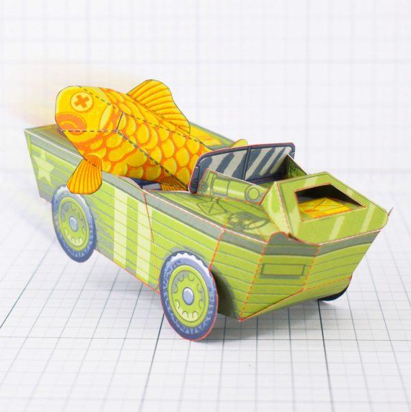 PTI - Aqua Marine Seep Jeep Fold Up Toy Image - Main