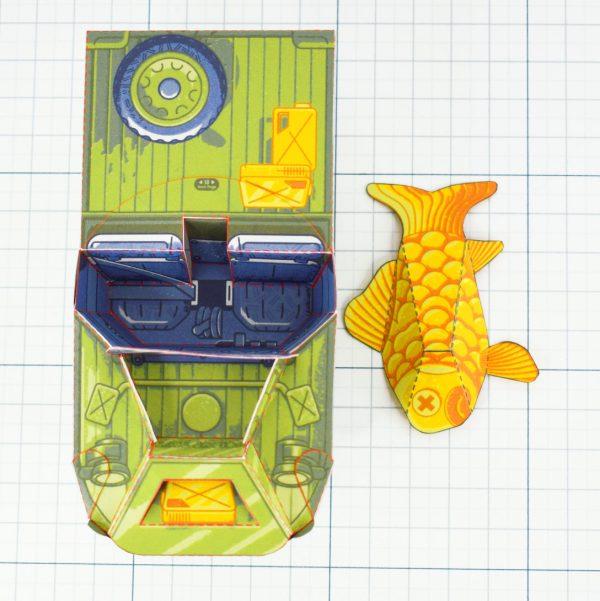 PTI - Aqua Marine Seep Jeep Fold Up Toy Image - Top
