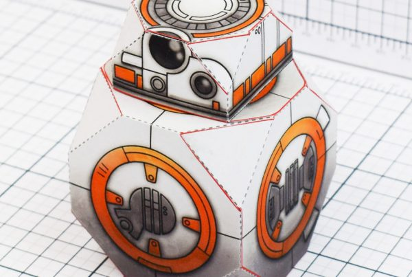 PTI BB-8 Droid Star Wars Paper Toy Main Square
