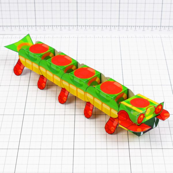 PTI - Centipede Game Paper Toy Craft Monster Bug Image - Square