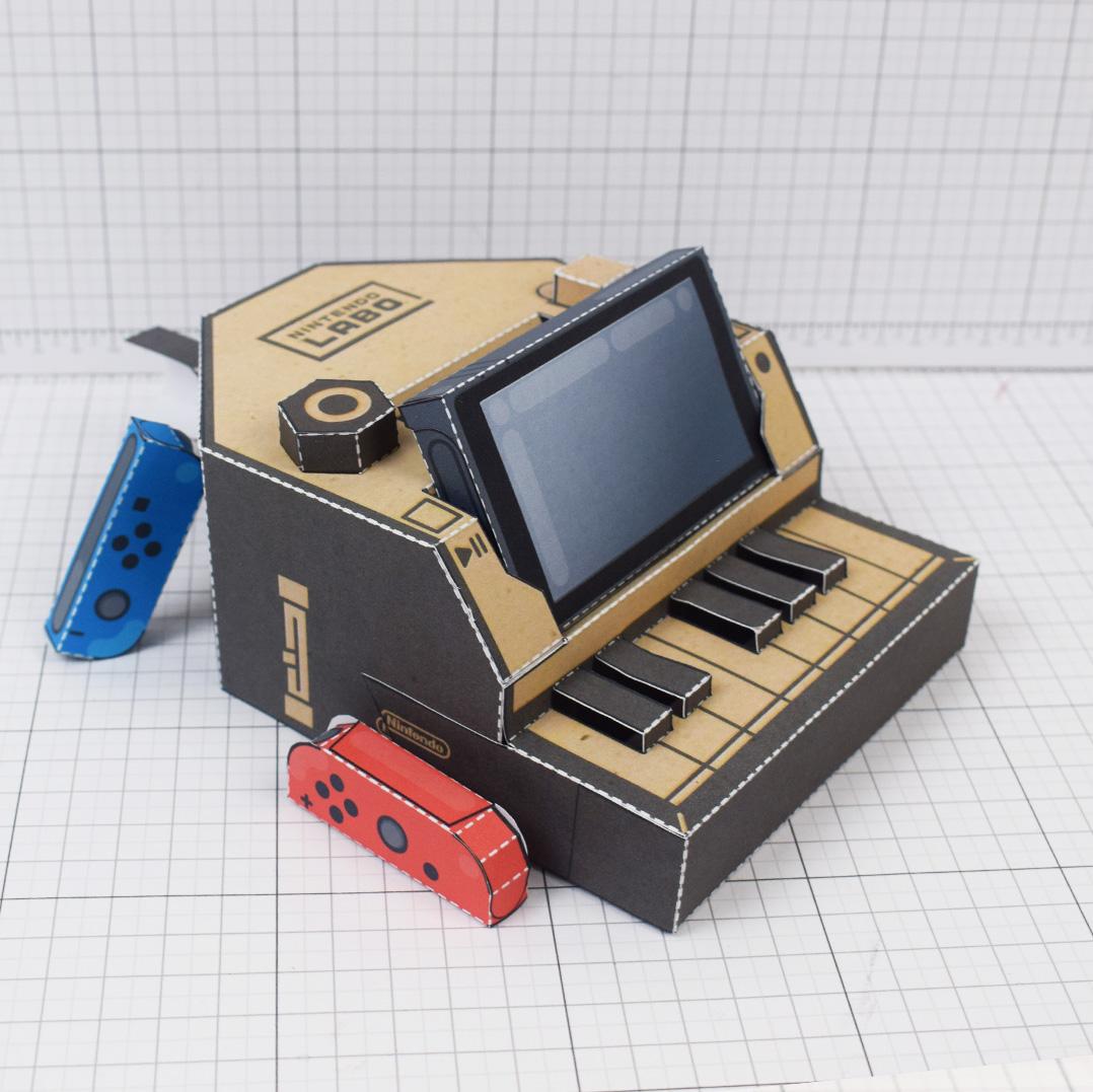 PTI Nintendo Switch Labo Piano paper toy craft download - Square