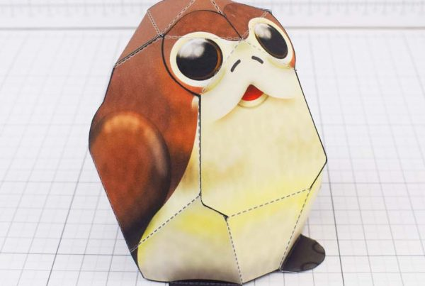 PTI - Star Wars Porg Paper Toy Fold Up Toys