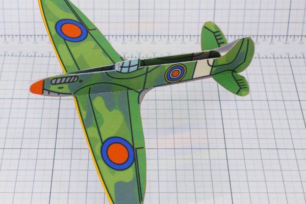 PTI - WW2 Spitfire glider historical paper craft