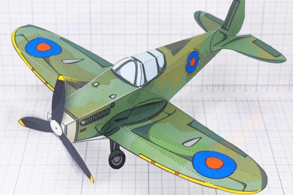 PTI - WW2 Spitfire historical paper craft