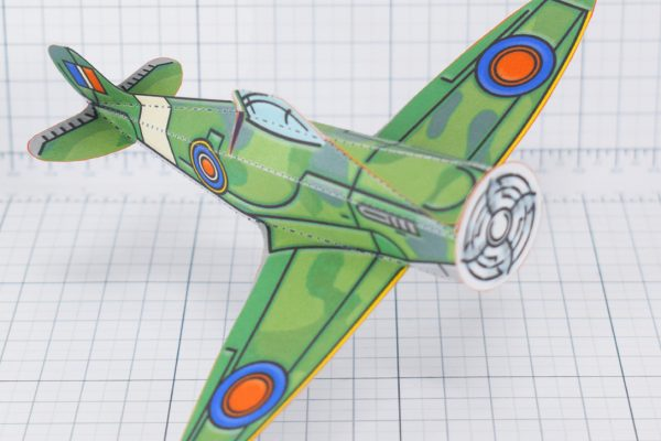 PTI - WW2 Spitfire simple historical paper craft