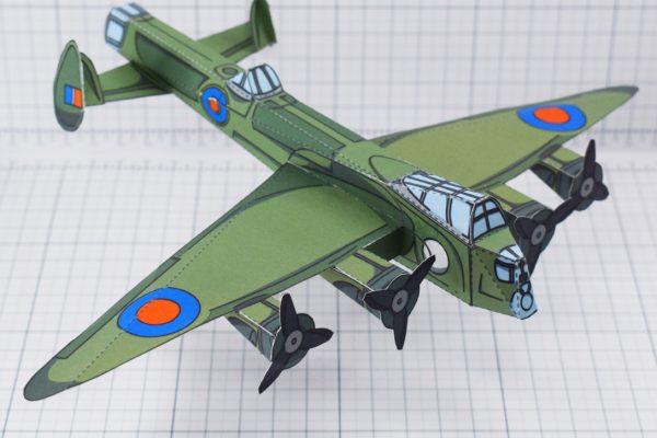 PTI - WW2 lancaster bomber historical paper craft
