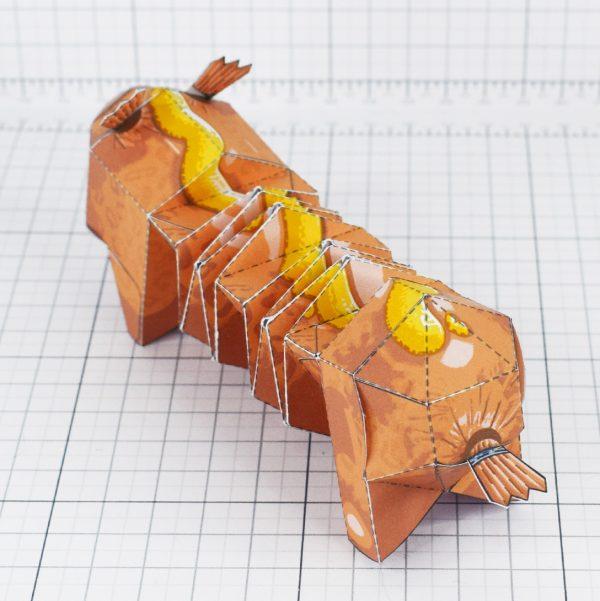 PTI - Hot dog weiner dog fold up toy - Back