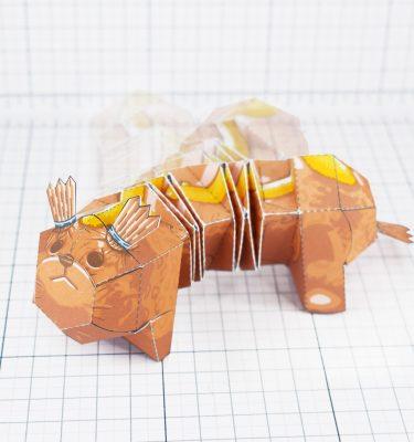 PTI - Hot dog weiner dog fold up toy - Main