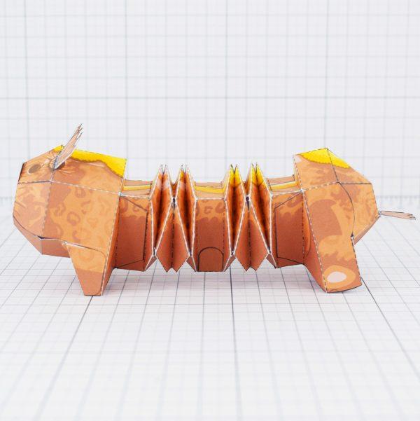 PTI - Hot dog weiner dog fold up toy - Side