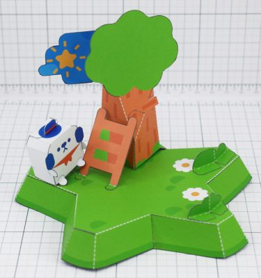 PTI- MOMO Island cute dog star fold up toy colalb - Main
