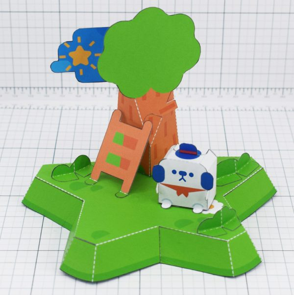 PTI- MOMO Island cute dog star fold up toy colalb - Side