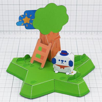 THU- MOMO Island cute dog star fold up toy colalb - Thumbnail