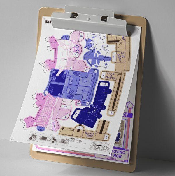 MU - Moving House Fold Up Toy - Mockup