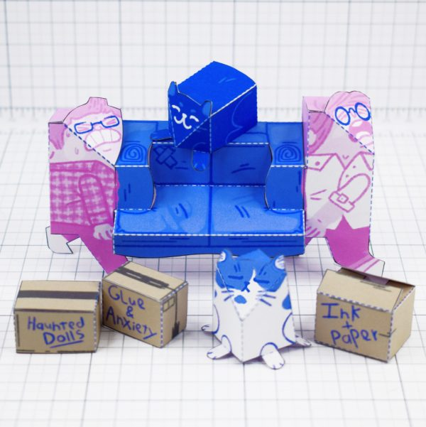 PTI - Moving House Fold Up Toy - Side