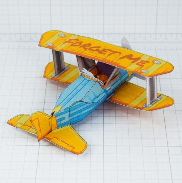 PTI - Biplane Fold Up Toy - Back