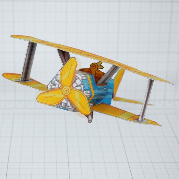 PTI - Biplane Fold Up Toy - Front