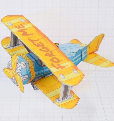 PTI - Biplane Fold Up Toy - Main