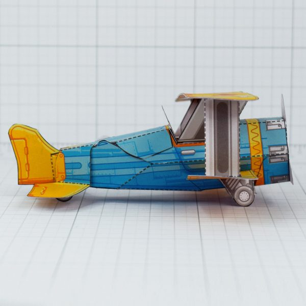 PTI - Biplane Fold Up Toy - Side