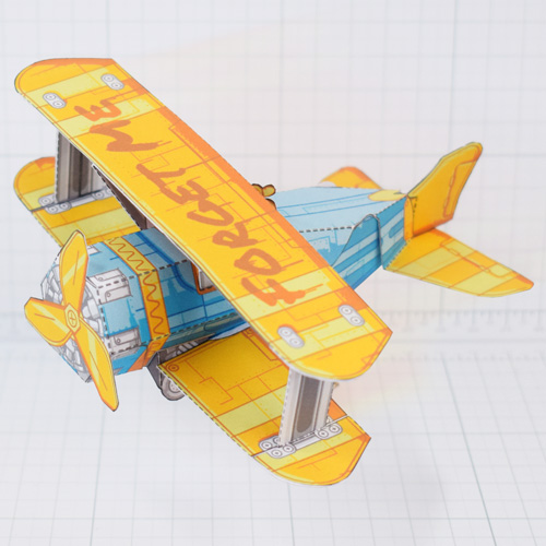 PTI - Biplane Fold Up Toy - Thumbnail