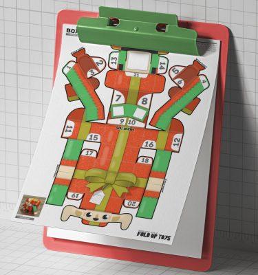 PTI Christmas Paper Toy Craft Decoration CuteBox Elf Image - 2021 Mockup