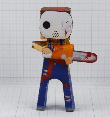 PTI- Hockey Mask Murderer 2021 - Fold Up Toy - Front