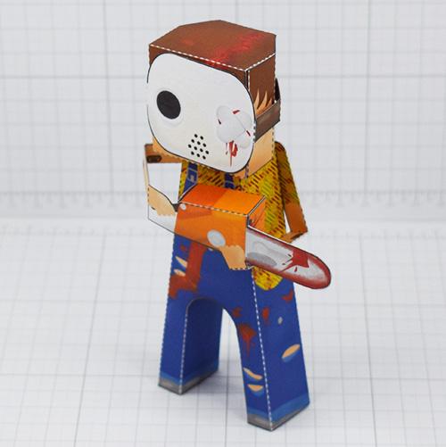 PTI- Hockey Mask Murderer 2021 - Fold Up Toy - Thumbnail