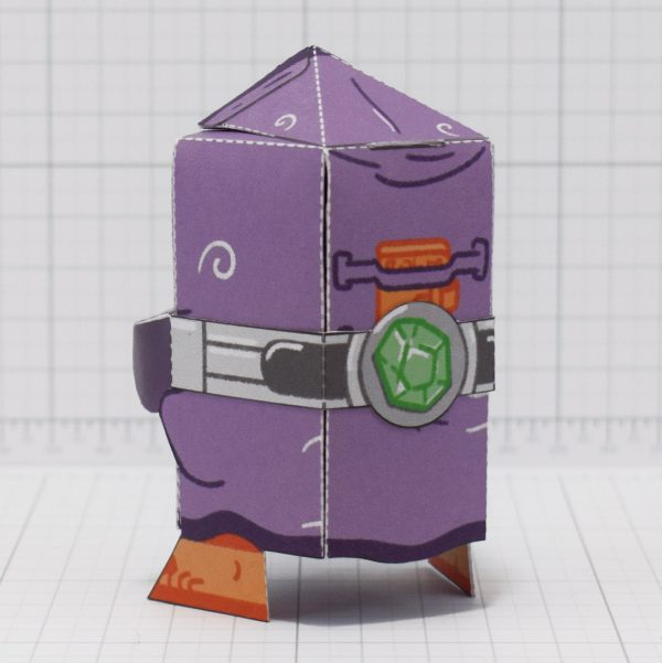 PTI-Melting Mage Paper Toy - Back