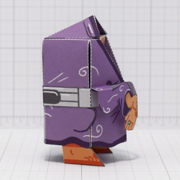 PTI-Melting Mage Paper Toy - Side