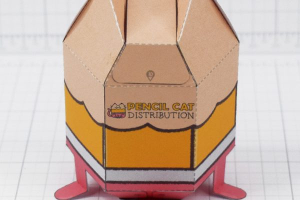 PTI - Pencil Cat Fold Up Toy - Back
