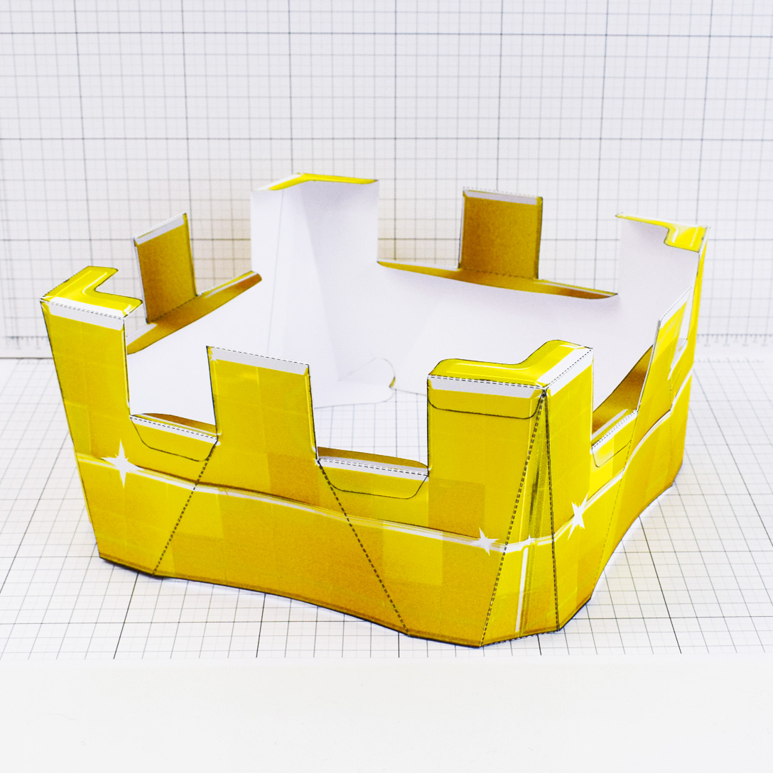 PTI - Minecraft Crown - Fold Up Toy - Main