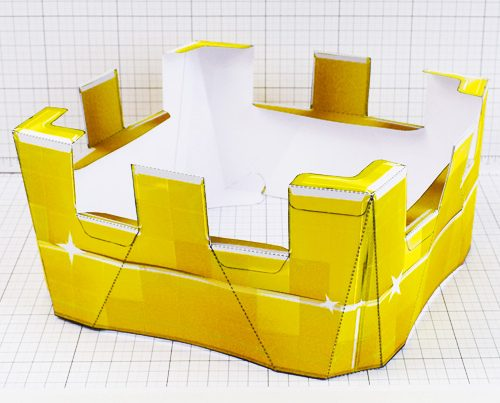 PTI - Minecraft Crown - Fold Up Toy - Thumbnail