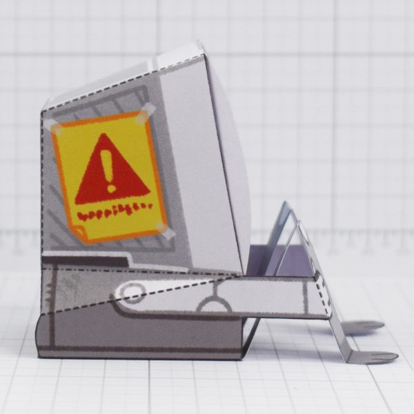 PTI-Depressed Disk Drive - Fold Up Toy - Side