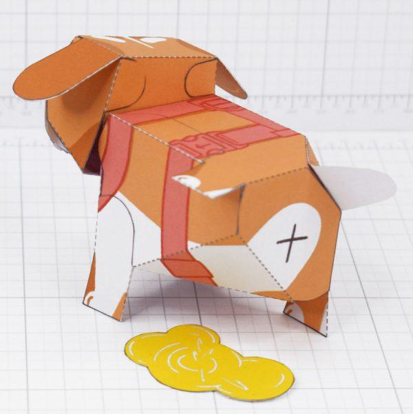 PTI - Puddle Pooch Fold Up Toys - Back