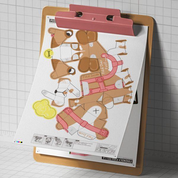 PTI - Puddle Pooch Fold Up Toys - Mockup