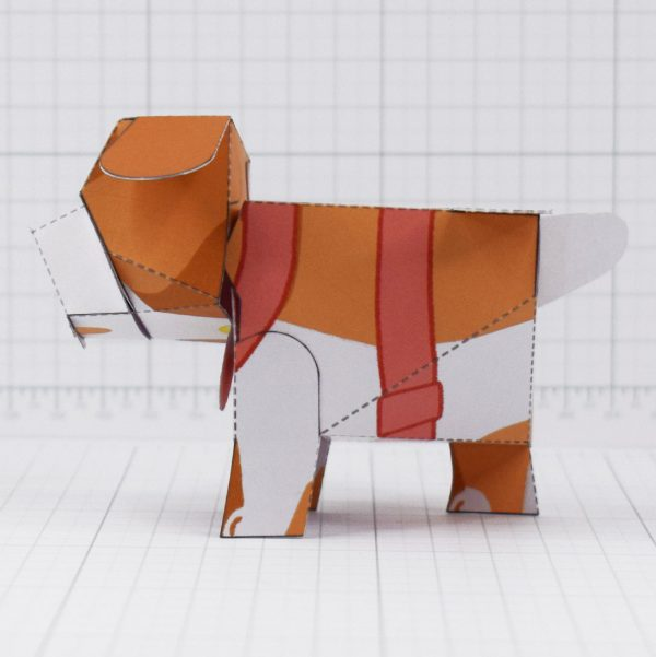 PTI - Puddle Pooch Fold Up Toys - Side